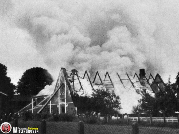 Großbrand bei Ahrens 1972